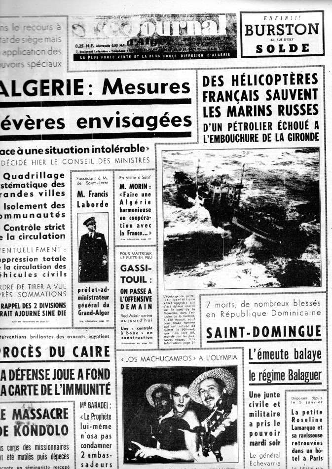 ALGERIE PRESSE JANVIER 1962 -2 ème et 3 ème parties 158