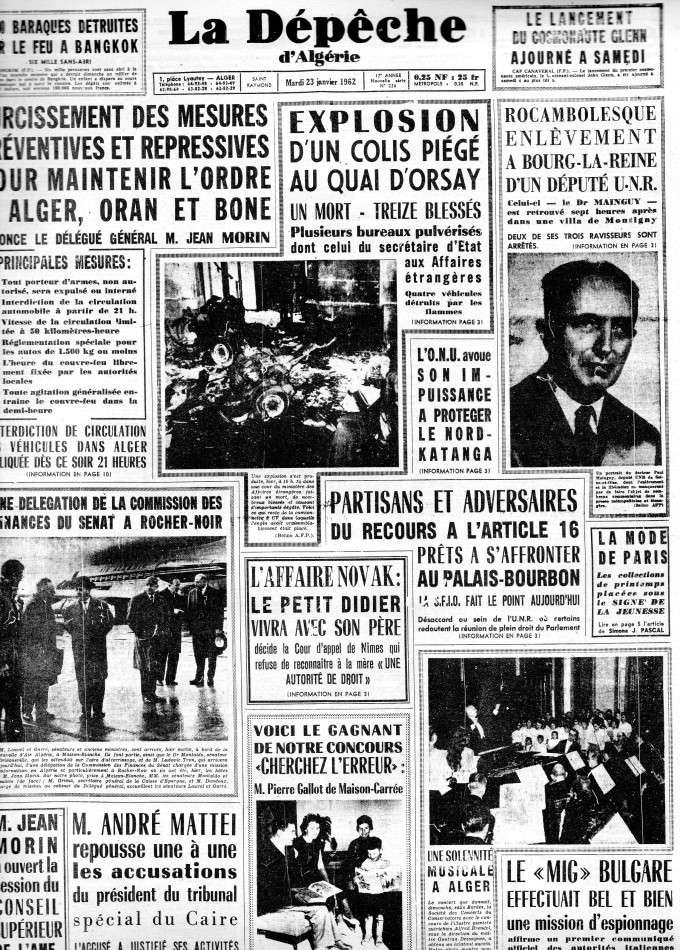 ALGERIE PRESSE JANVIER 1962 -2 ème et 3 ème parties 161