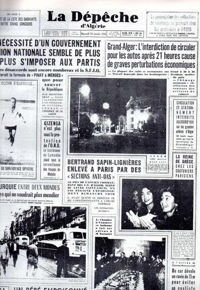 ALGERIE PRESSE JANVIER 1962 -2 ème et 3 ème parties 163