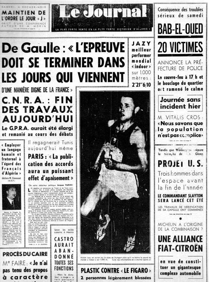 ALGERIE PRESSE FEVRIER 1962 (suite et fin) 174