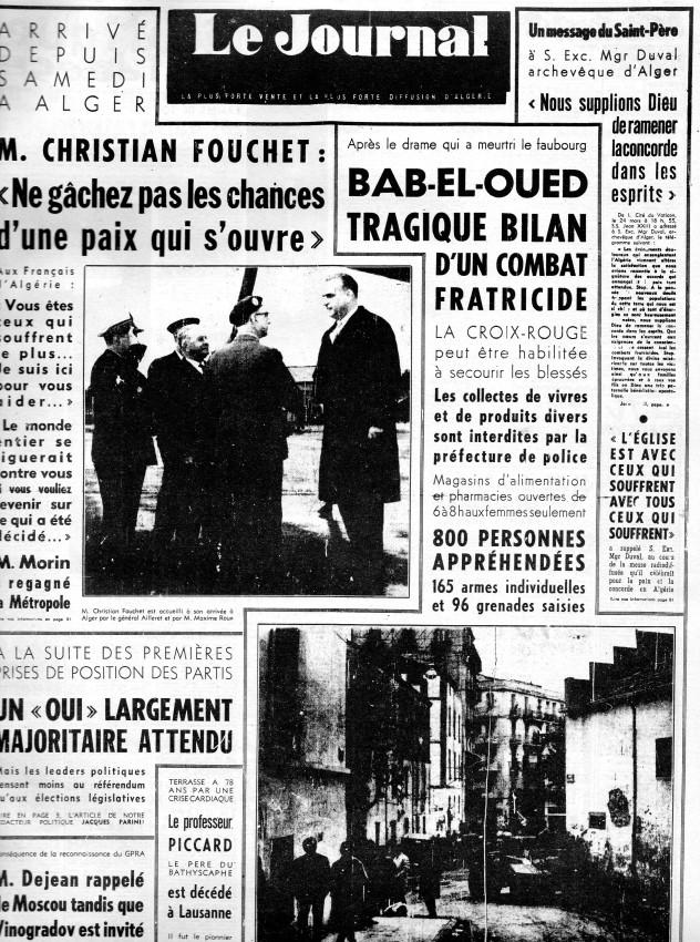 ALGERIE PRESSE MARS 1962, suite 1 187