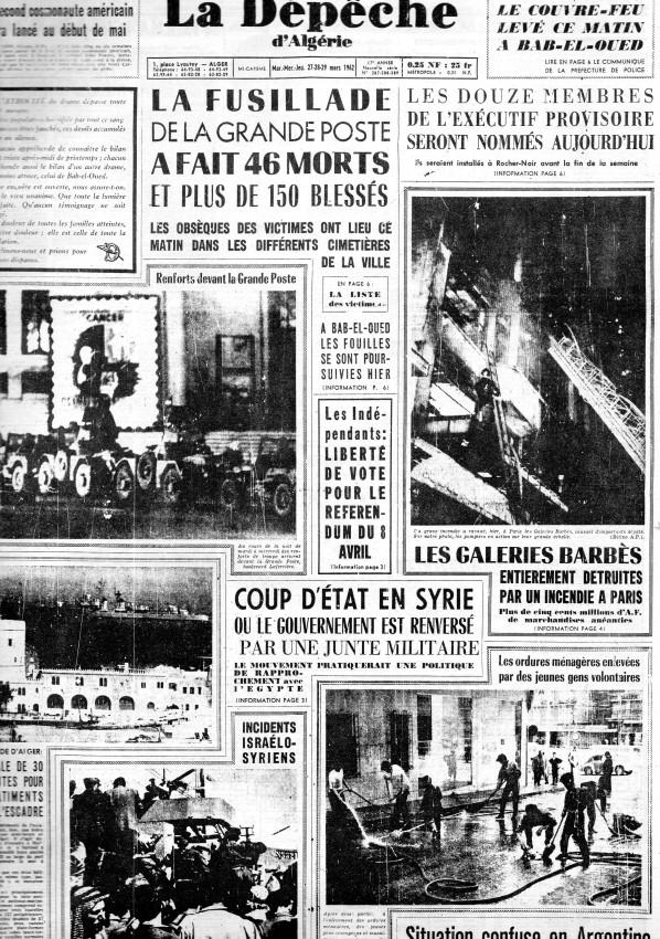 ALGERIE PRESSE MARS 1962, suite 1 188