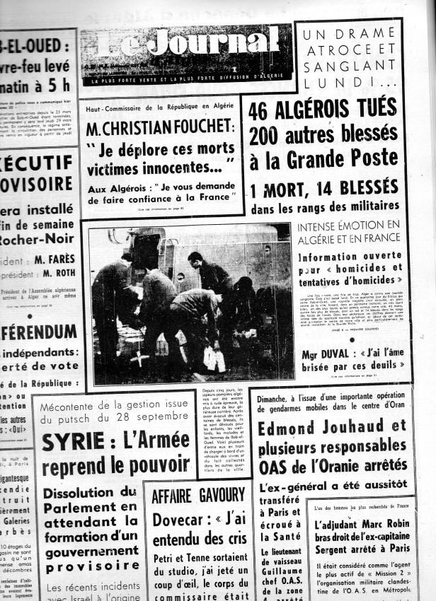ALGERIE PRESSE MARS 1962, suite 1 189