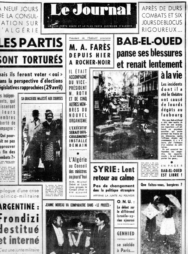 ALGERIE PRESSE MARS 1962, suite et fin 192