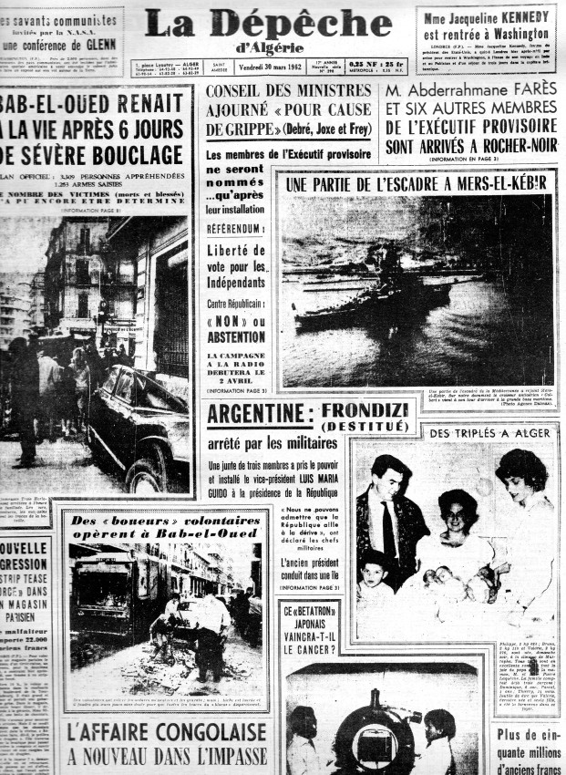 ALGERIE PRESSE MARS 1962, suite et fin 193