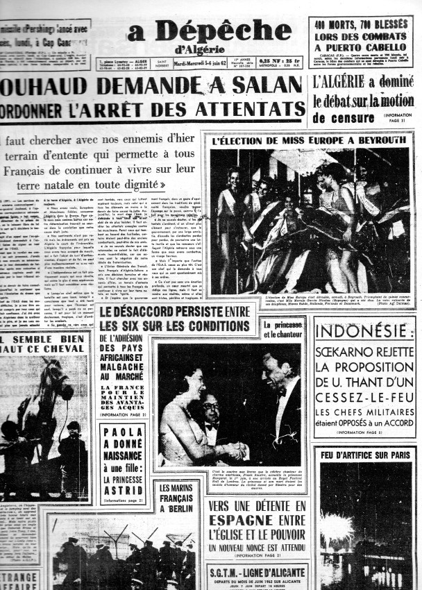 ALGERIE PRESSE JUIN 1962  197