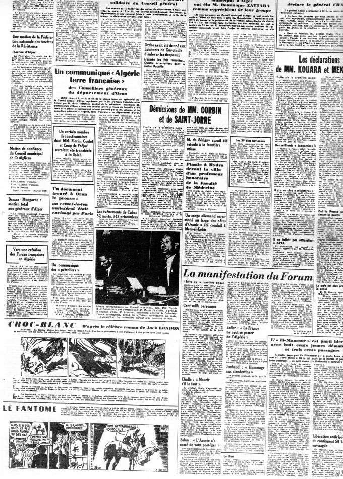 """ALGERIE PRESSE  1961 """"spécial PUTSCH""""  2ème partie 222"""