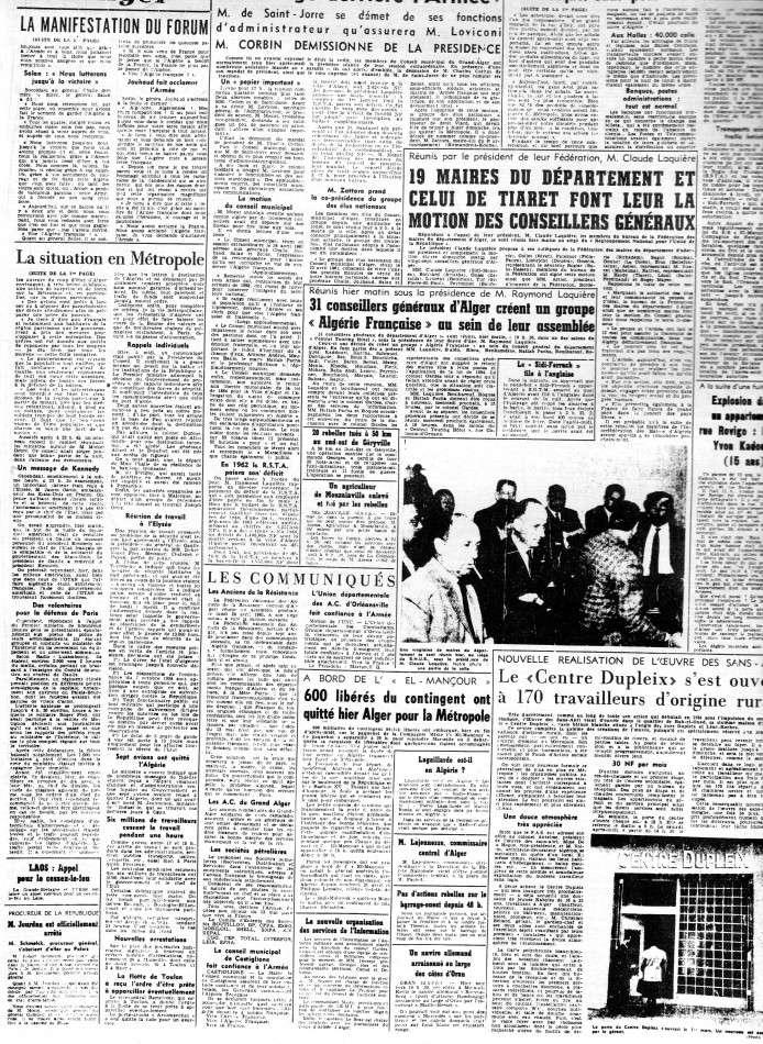 """ALGERIE PRESSE  1961 """"spécial PUTSCH""""  2ème partie 224"""