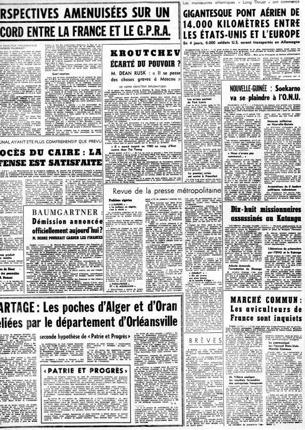 ALGERIE PRESSE JANVIER 1962 -2 ème et 3 ème parties 251