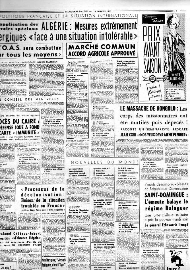 ALGERIE PRESSE JANVIER 1962 -2 ème et 3 ème parties 252