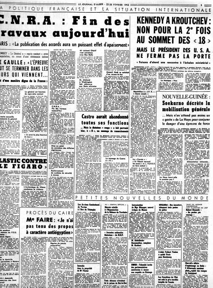 ALGERIE PRESSE FEVRIER 1962 (suite et fin) 262