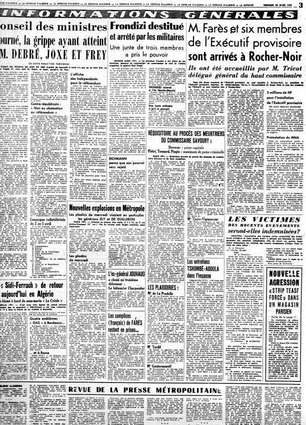 ALGERIE PRESSE MARS 1962, suite et fin 275