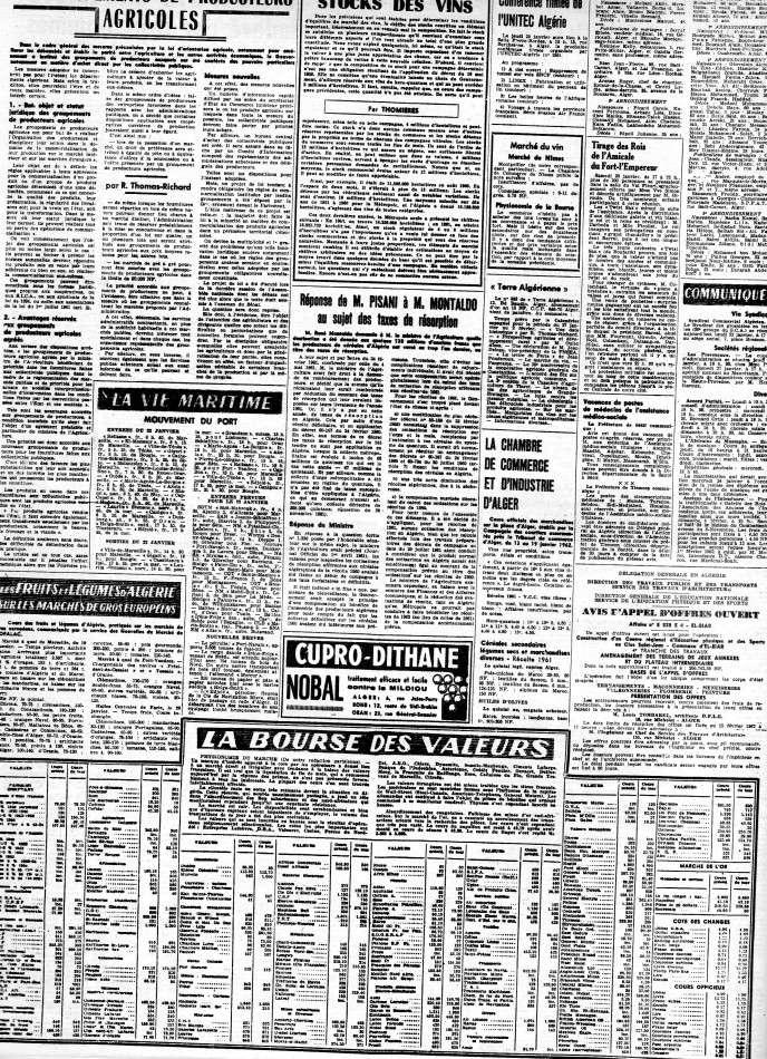 ALGERIE PRESSE JANVIER 1962 -2 ème et 3 ème parties 340