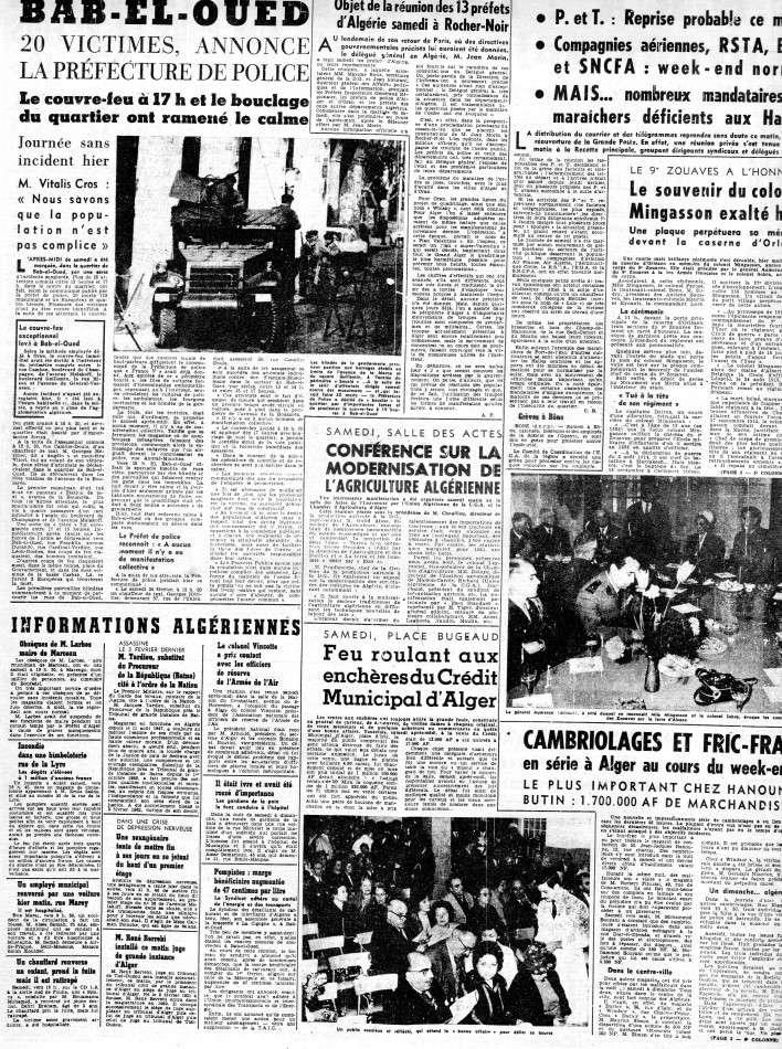 ALGERIE PRESSE FEVRIER 1962 (suite et fin) 344