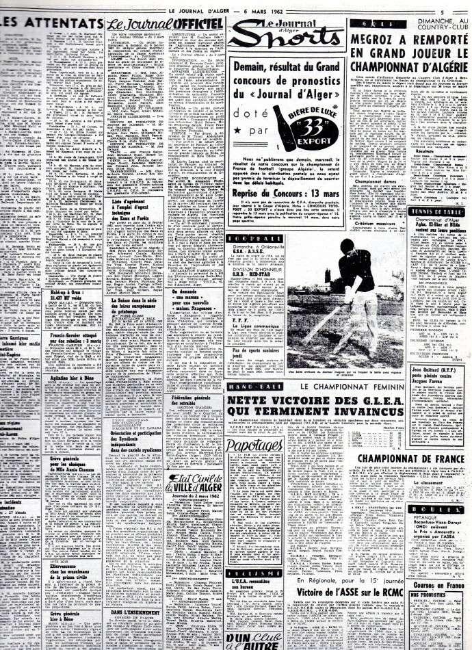 ALGERIE PRESSE MARS 1962 346