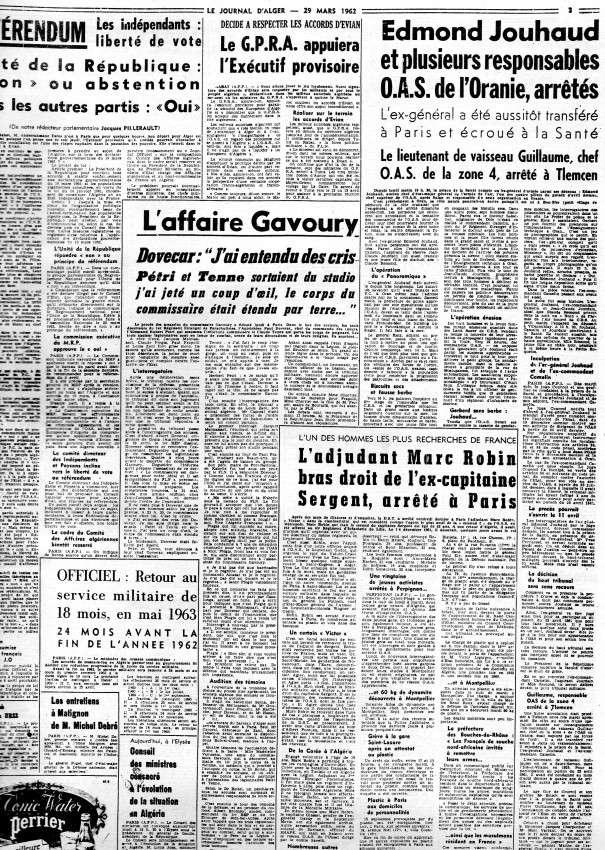 ALGERIE PRESSE MARS 1962, suite 1 348