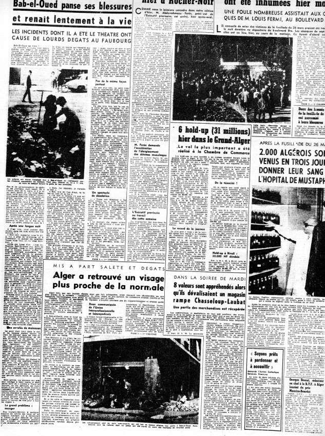ALGERIE PRESSE MARS 1962, suite et fin 350