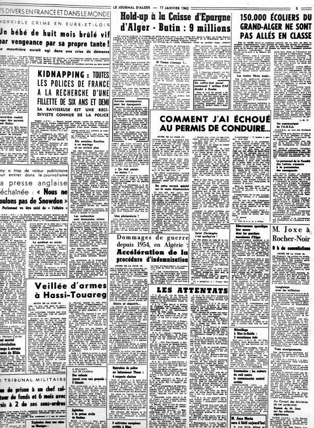 ALGERIE PRESSE JANVIER 1962 -2 ème et 3 ème parties 436