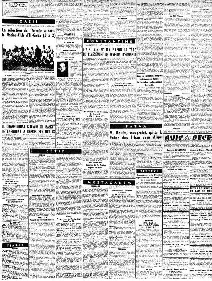 ALGERIE PRESSE JANVIER 1962 -2 ème et 3 ème parties 437