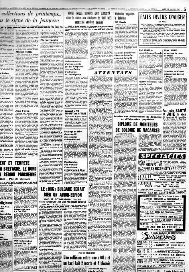 ALGERIE PRESSE JANVIER 1962 -2 ème et 3 ème parties 438