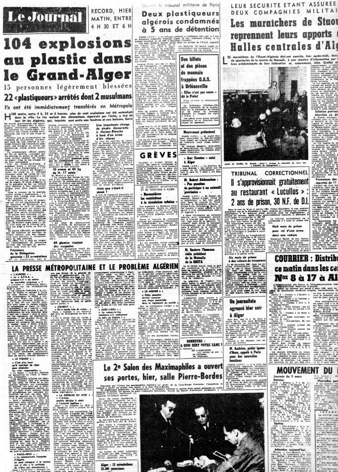 ALGERIE PRESSE MARS 1962 442