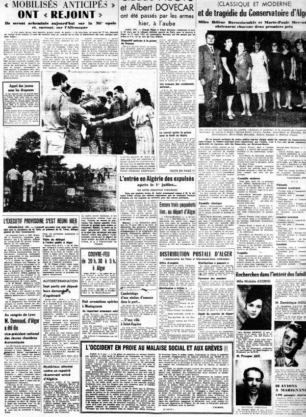 ALGERIE PRESSE JUIN 1962  456