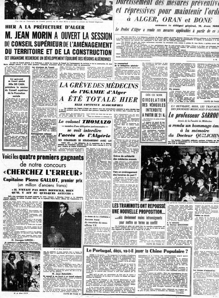 ALGERIE PRESSE JANVIER 1962 -2 ème et 3 ème parties 522