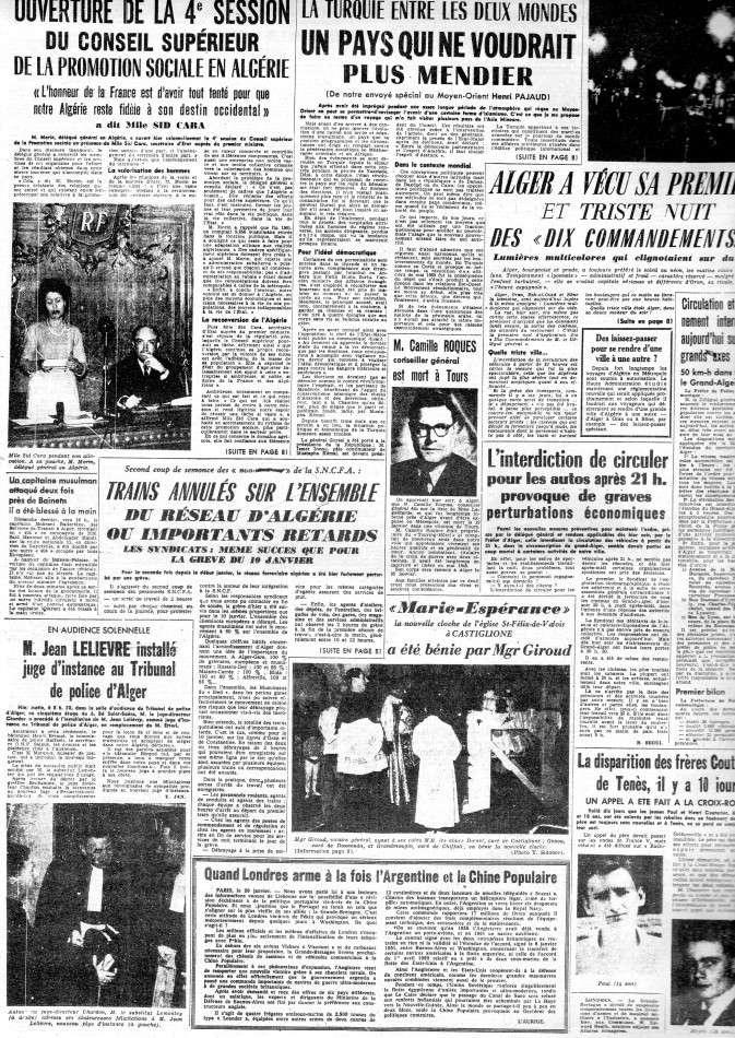 ALGERIE PRESSE JANVIER 1962 -2 ème et 3 ème parties 524