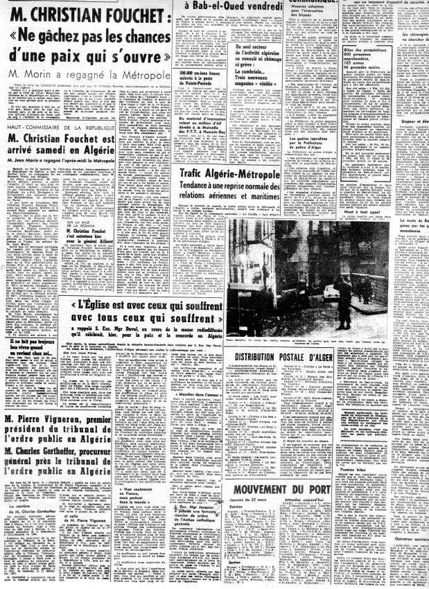 ALGERIE PRESSE MARS 1962, suite 1 542