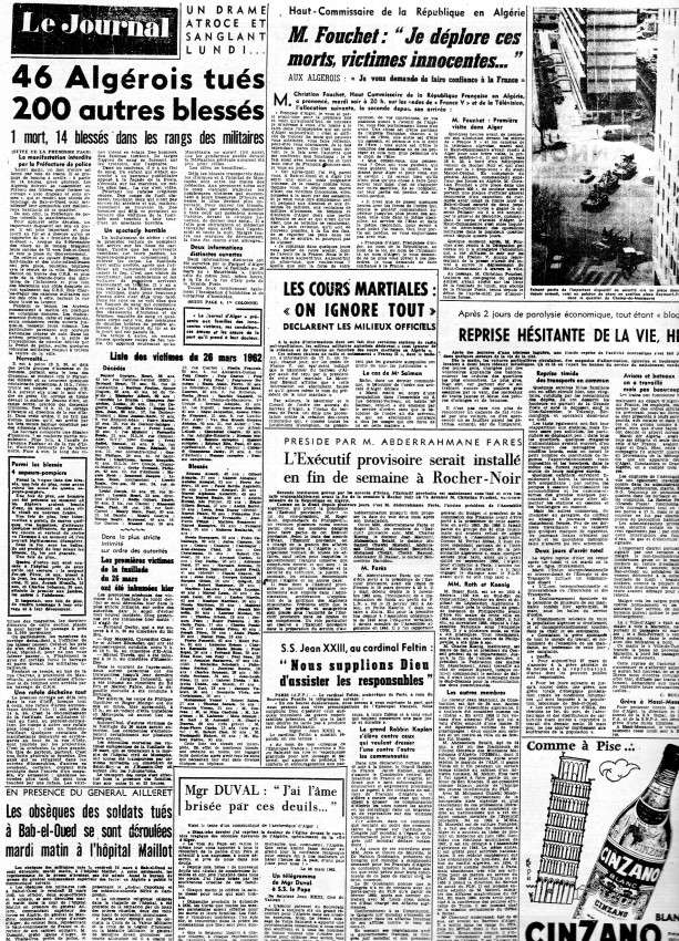 ALGERIE PRESSE MARS 1962, suite 1 618