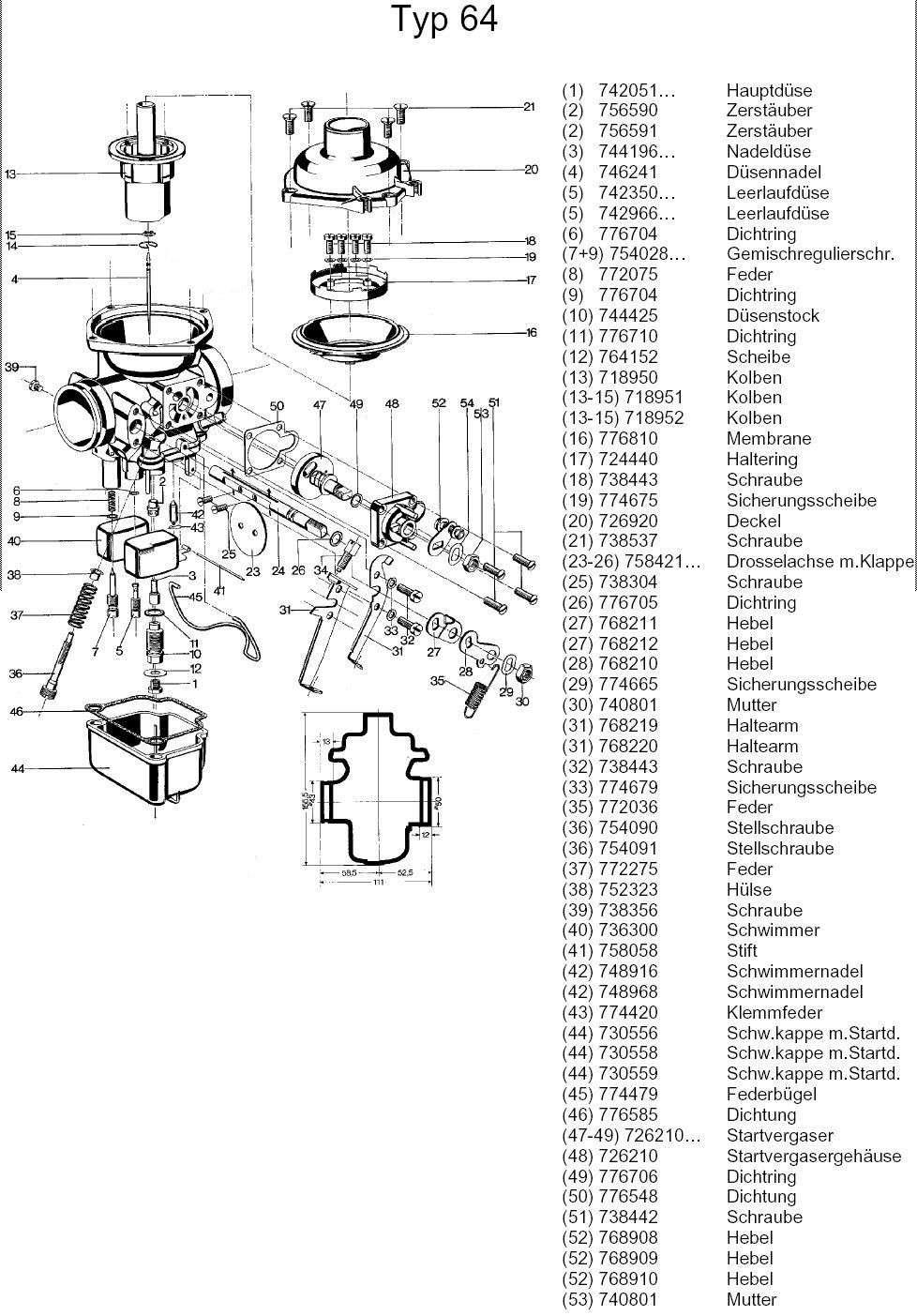 [R100 '83] Dimension des joints torique de carbus Typ6410