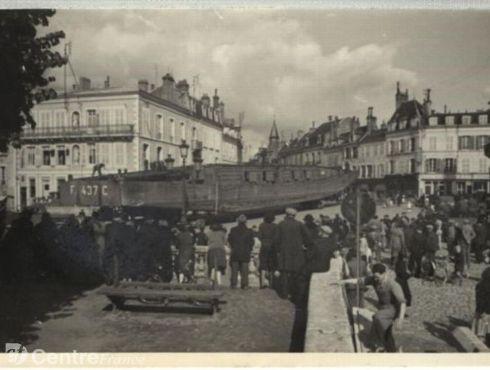 Insolite; des navires de la Kriegsmarine à Avallon 13585910