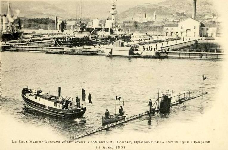 11 avril 1901 le President E.Loubet sur le SM Gustave Zede  1901_410