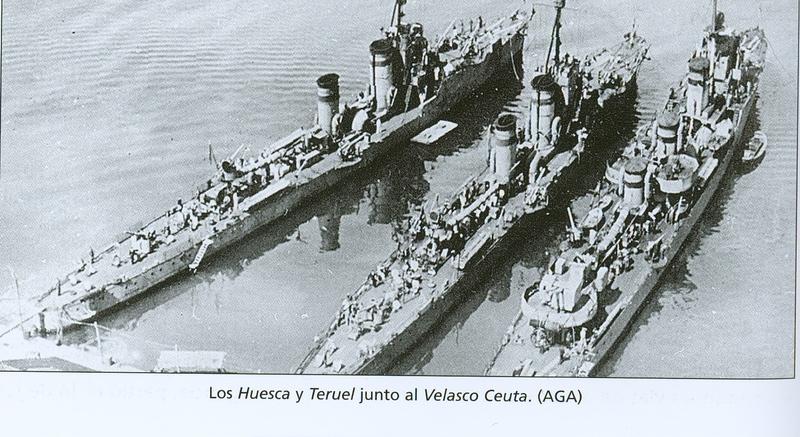 Juillet 1936à avril 1939; marine espagnole la guerre civile Huesca13