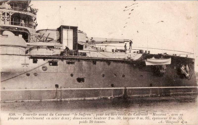 Essais de blindage à tir réel sur le cuirassé Suffren,1903. Suffre11