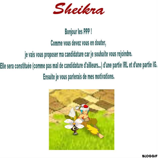 Candidature Sheikra. 110