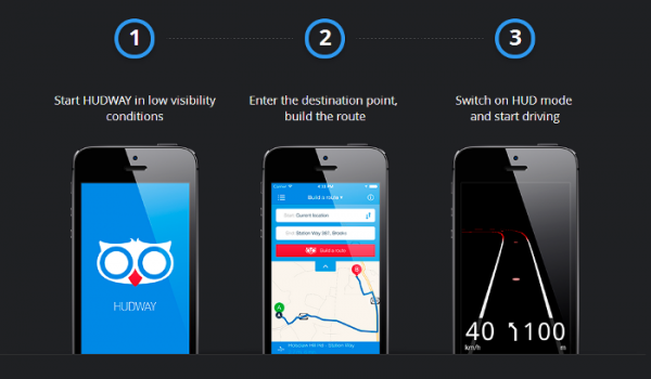 HUDWAY turns your iPhone into a head-up display system Hudway11