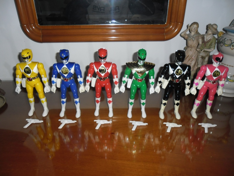 Lotto 6 MIGHTY MORPHIN POWER RANGERS 20cm COME NUOVI!!! Sam_5210