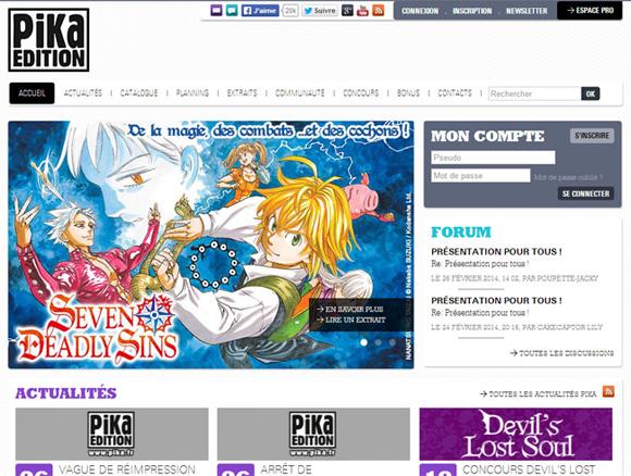 Nouveau site web pour Pika Edition Pika-s10