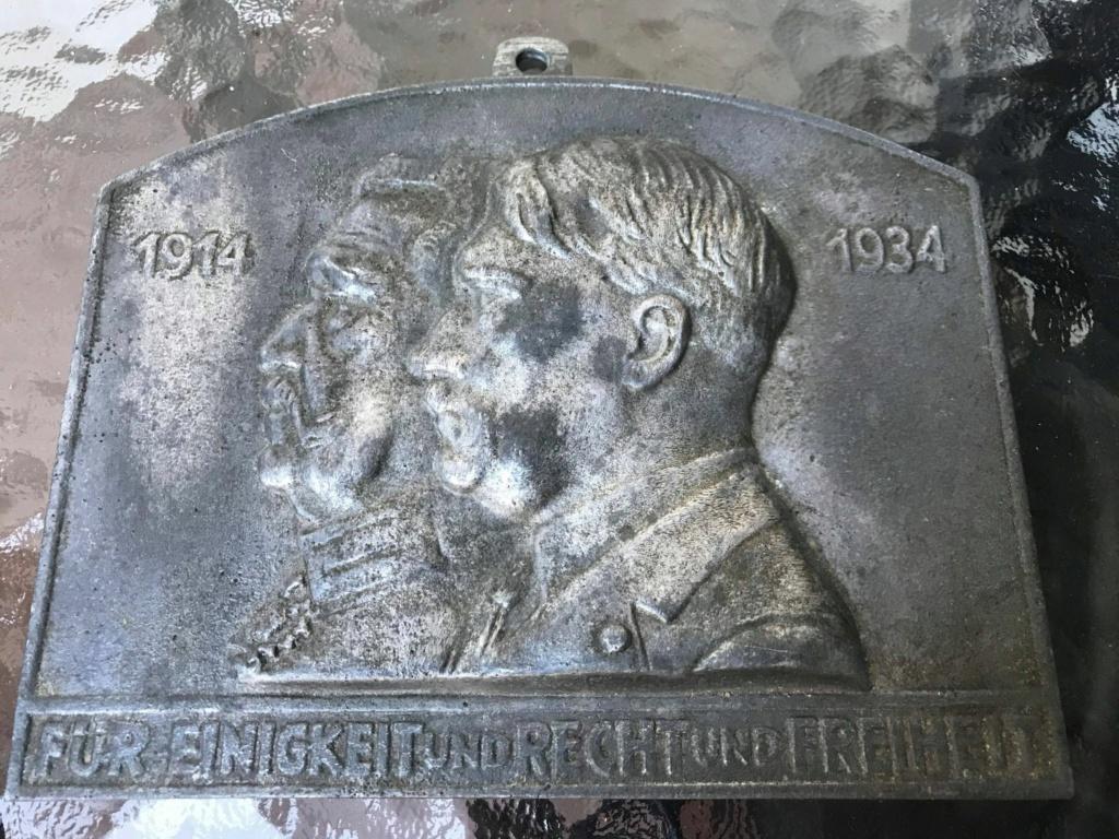 Plaque commémorative Hitler Hindenburg de 1934 signée Ernst Seger 11854210