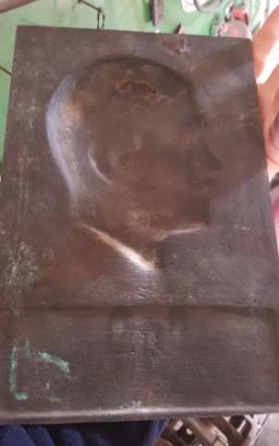 """Plaque de fonte Adolf Hitler - Walter Wolff, """"Ehrenplakette des Führers"""" 2020-020"""