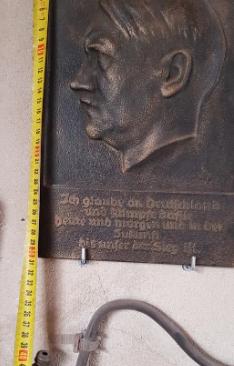 """Plaque de fonte Adolf Hitler - Walter Wolff, """"Ehrenplakette des Führers"""" 2020-023"""