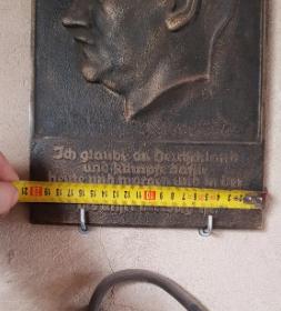 """Plaque de fonte Adolf Hitler - Walter Wolff, """"Ehrenplakette des Führers"""" 2020-025"""