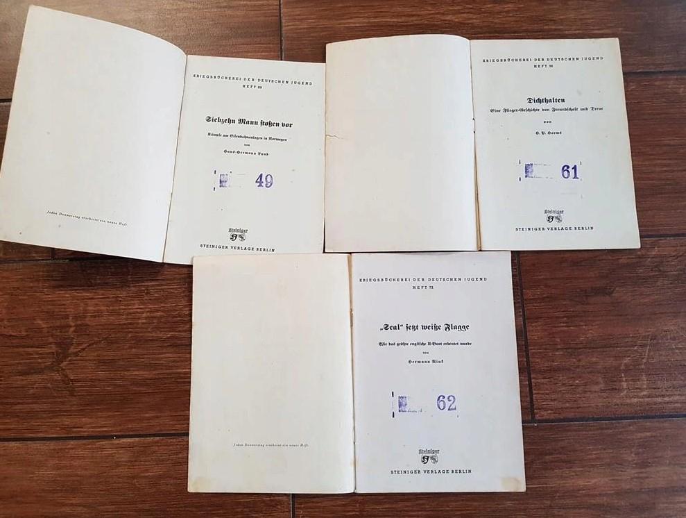 Livrets de propagande jeunesse hitlérienne Kriegsbücherei der deutschen Jugend 2020-130