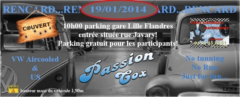 Rencard parking couvert Lille US et vw (janvier) Rencaf14