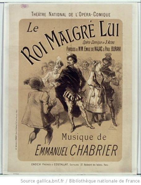 مجموعة من اشهر الحان اوبرا كوميك Le roi malgré lui (ملكا رغما عنه ) من تأليف الموسيقار الفرنسى شابرييه 456px-10