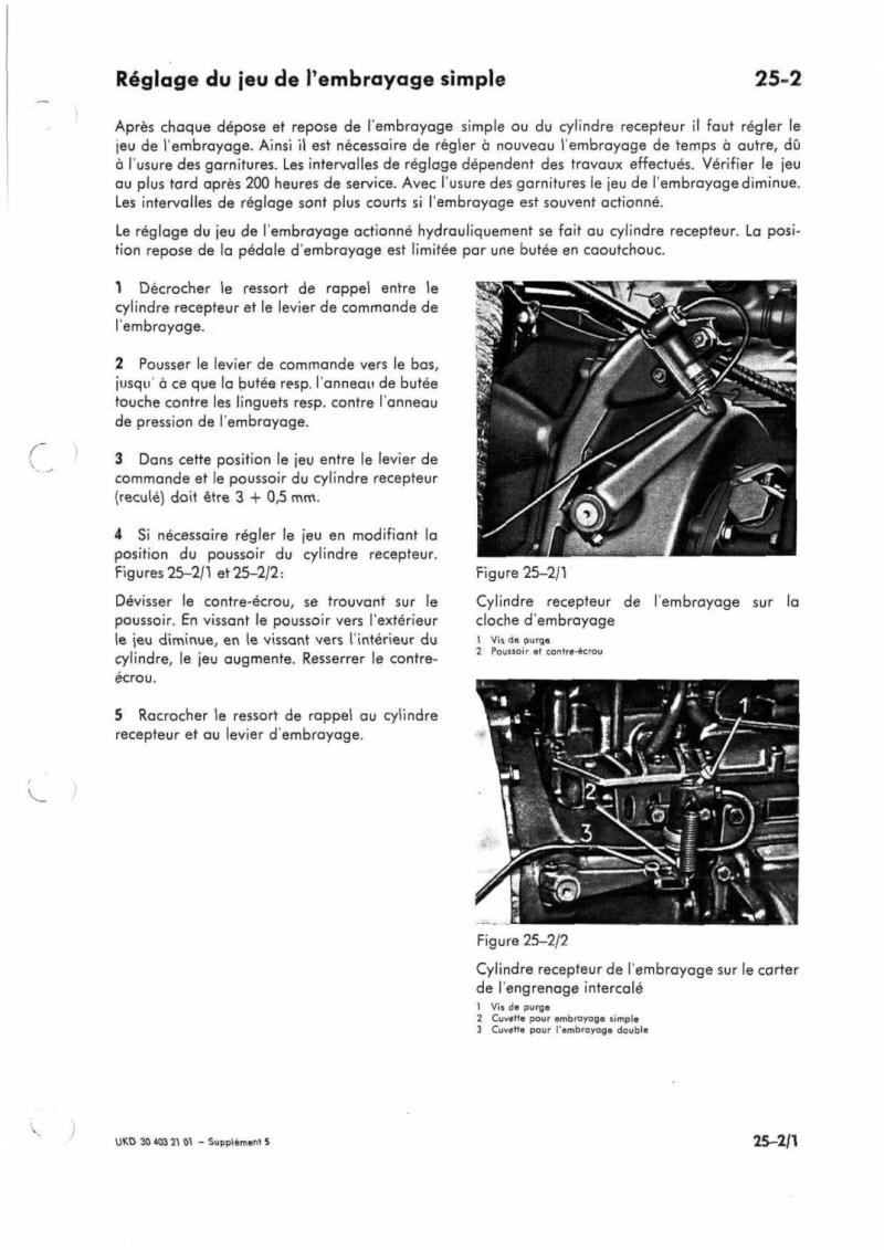 Problème commande d'embrayage 416 Manuel24