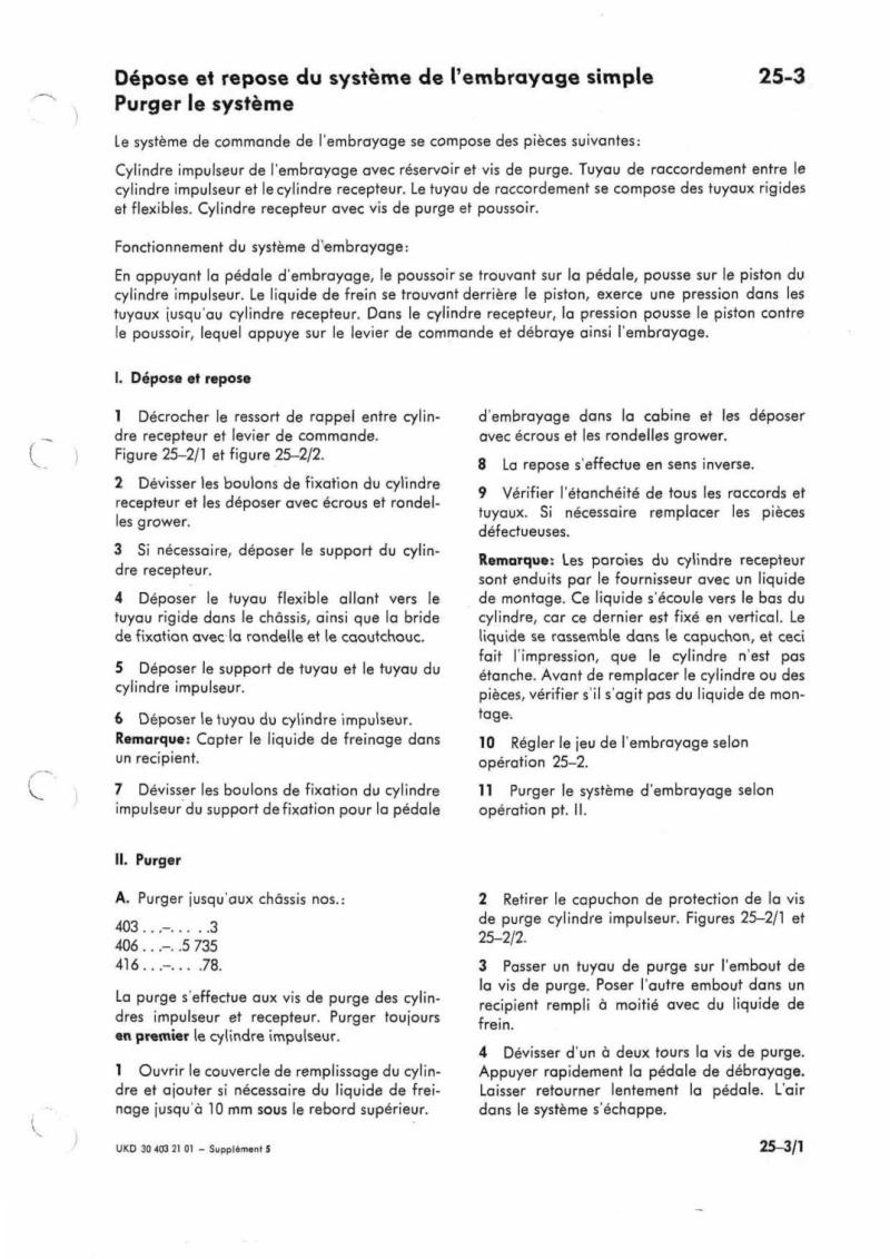 Problème commande d'embrayage 416 Manuel25