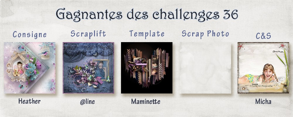 Résultats des challenges N°36 Challe12