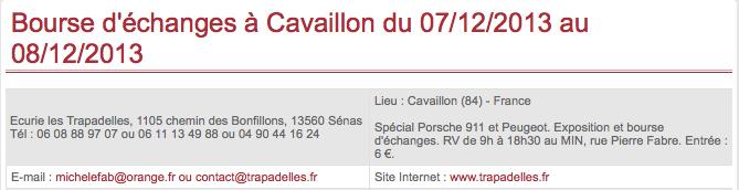 Bourse d'échanges à Cavaillon 07 et 08/12/2013 Captur13
